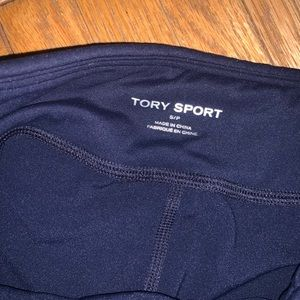 Tory Burch Pants - Tory Sport Navy Blue Chevron Leggings in Small